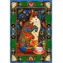 70152 - Puzzle Gato Pintado, 1500 piezas, Bluebird