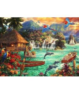 70052 - Puzzle Vida en la Isla, 2000 piezas, Bluebird