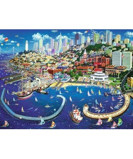27107 - Puzzle Bahía de San Francisco, 2000 piezas, Trefl