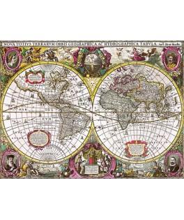 27095 - Puzzle Mapa de la Tierra y Agua, 1630, 2000 piezas, Trefl