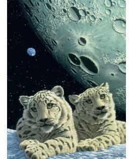 004211 - Puzzle guarida del leopardo de las nieves, Schim Schimmel, 1500 piezas, Grafika