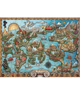 16728 - Puzzle Atlantis Misteriosa, 1000 piezas, Ravensburger
