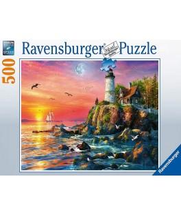 16581 - Puzzle Faro al Atardecer, 500 piezas, Ravensburger
