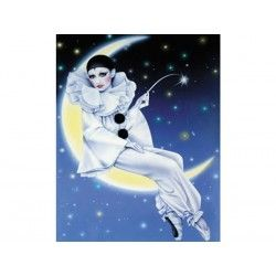 77855-Puzzle Arlequín en la Luna, Gilda Belin. 1000p Spiel Spass
